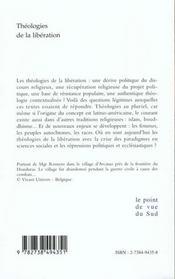 Theologies De La Liberation - 4ème de couverture - Format classique