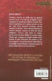 La légion écarlate - 4ème de couverture - Format classique