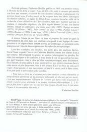 Catherine breillat ; un cinema du rite et de la transgression - 4ème de couverture - Format classique