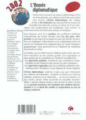Annee Diplomatique 2002 (L') - 4ème de couverture - Format classique