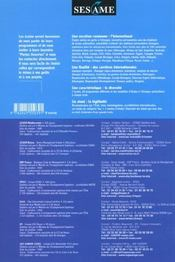 Sesame ; Annales Du Concours 2001-2002 - 4ème de couverture - Format classique