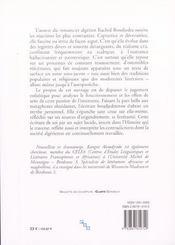 Rachid Boudjedra, La Passion De L'Intertexte - 4ème de couverture - Format classique