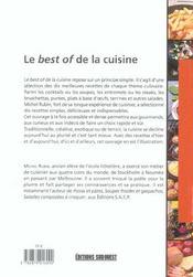 Le best of de la cuisine - 4ème de couverture - Format classique