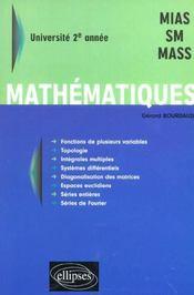 Mathematiques Universite 2e Annee Mias Sm Mass - Intérieur - Format classique