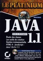Java 1.1 Guide Du Developpeur - Couverture - Format classique