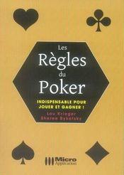 Les règles du poker - Intérieur - Format classique