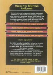 Les règles du poker - 4ème de couverture - Format classique