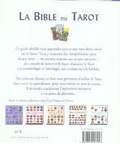 La bible du tarot - 4ème de couverture - Format classique
