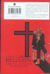 Hellsing t.1 - 4ème de couverture - Format classique