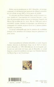 Glossaire erotique de la langue francaise - 4ème de couverture - Format classique