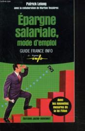 L'epargne salariale - Couverture - Format classique