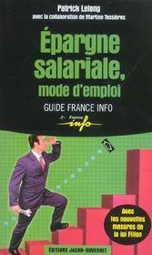 L'epargne salariale - Intérieur - Format classique