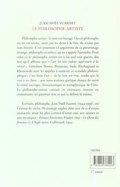 Le Philosophe-Artiste - 4ème de couverture - Format classique