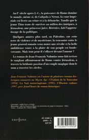 Titus t.1 ; la prophétie de Jérusalem - 4ème de couverture - Format classique