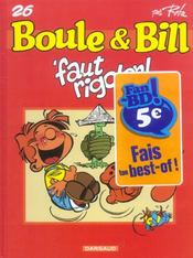 Boule & Bill T.26 ; 'faut rigoler ! - Intérieur - Format classique