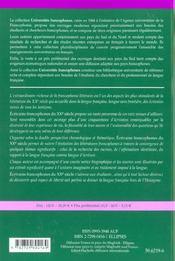 Ecrivains Francophones Du Xxe Siecle - 4ème de couverture - Format classique