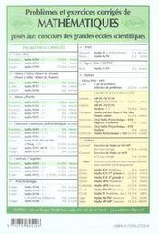 Centrale/supelec T.9 - 4ème de couverture - Format classique
