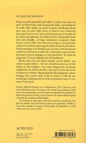 Le Chant Du Pingouin - 4ème de couverture - Format classique