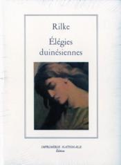 Elegies Duinesiennes - Couverture - Format classique