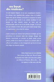 Au Bout Du Rouleau ? 8 Strategies Pour Aider Les Femmes A Retrouver Energie Et Vitalite - 4ème de couverture - Format classique