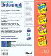 Guide des meilleurs téléchargements Internet - 4ème de couverture - Format classique