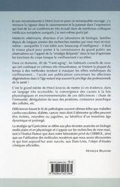 Santé et longévité par les plus récentes avancées médico-scientifiques issues des recherches de mirko beljanski - 4ème de couverture - Format classique