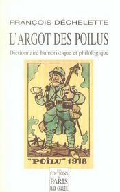 L'Argot Des Poilus - Intérieur - Format classique