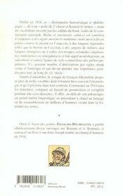 L'Argot Des Poilus - 4ème de couverture - Format classique