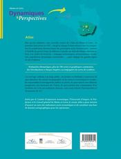 Atlas maine et loire dynamioques et perspectives - 4ème de couverture - Format classique