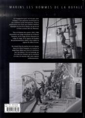 Marins ; les hommes de la royale - 4ème de couverture - Format classique