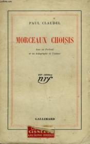 Morceaux Choisis. - Couverture - Format classique