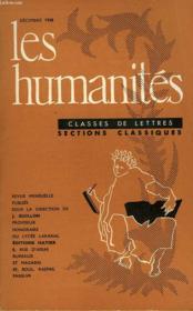 Les Humanites - Classe De Lettres - Decembre 1958 - Couverture - Format classique