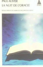 La Nuit De L'Oracle Babel 720 - Intérieur - Format classique