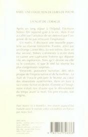La Nuit De L'Oracle Babel 720 - 4ème de couverture - Format classique
