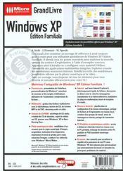 Grand Livre Windows Xp Edition Familiale - 4ème de couverture - Format classique