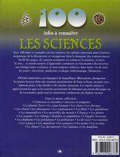 100 Infos A Connaitre ; Les Sciences - 4ème de couverture - Format classique