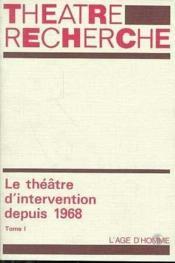 Theatre D'Intervention T.1 - Couverture - Format classique