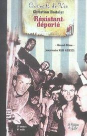 Carnets de vie d'un resistant deporte - Intérieur - Format classique