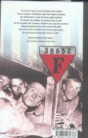 Carnets de vie d'un resistant deporte - 4ème de couverture - Format classique