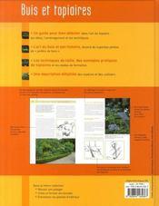 Buis et topiaires - 4ème de couverture - Format classique
