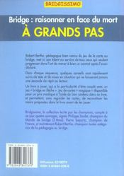 A Grands Pas - 4ème de couverture - Format classique