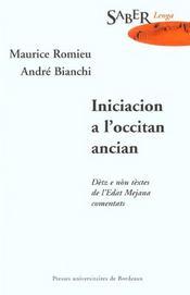 Iniciacion A L Occitan Ancian - Intérieur - Format classique