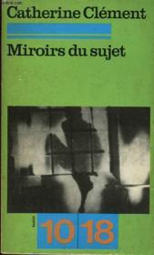 Miroirs Du Sujet - Couverture - Format classique