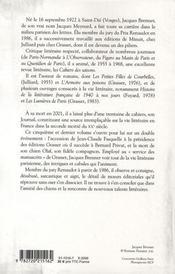 Journal t.5 ; la cuisine des prix, 1980-1993 - 4ème de couverture - Format classique