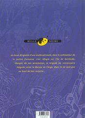 Zambada t.2 ; la maison de l'ange - 4ème de couverture - Format classique