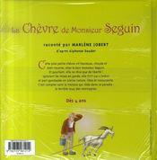 La chèvre de monsieur seguin - 4ème de couverture - Format classique