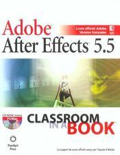 After Effects 5.5 - Intérieur - Format classique
