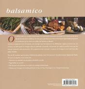 Balsamico - 4ème de couverture - Format classique