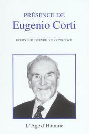 Presence De Eugenio Corti - Intérieur - Format classique