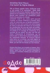 J'Ai Suivi La Ligne Bleue - 4ème de couverture - Format classique